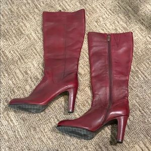 Antonio Melani Burgundy Tall Boots Sz 9.5